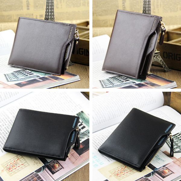 Sale 20% (6.54$) - Mens Bifold Wallet ID credit Card holder Coin Purse Pockets