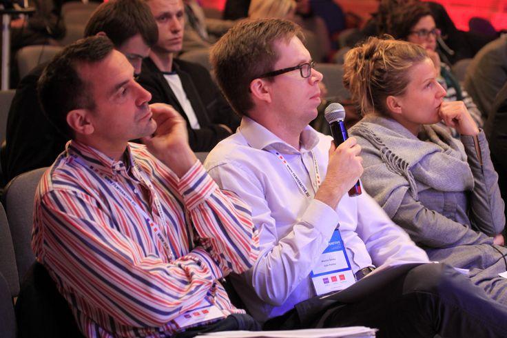 Filmteractive Market jury listening to the pitching sessions. From the left - Pietro Pierangeli (Subvertising); Martin Simka (Evio); Lucia Haslauer (ZDF)
