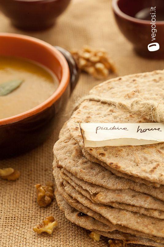 #Piadina rustica di #segale e #noci - #flatbread, #rye, #nuts