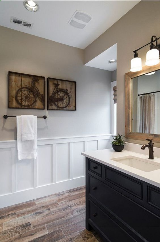 bathroom decorating with wainscoting