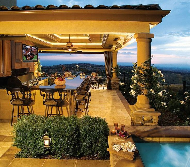 Backyard Pool And Outdoor Kitchen Designs 24 best pool & outdoor kitchen ideas images on pinterest