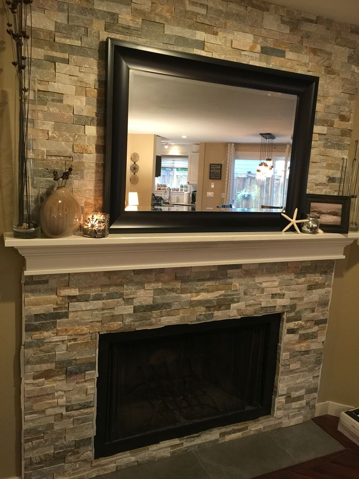 Refaced Fireplace ϸ� For The Home Pinterest Mantles