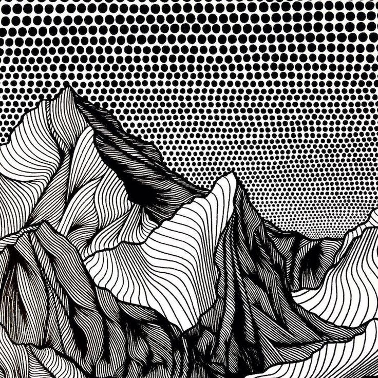 Inspirada na paisagem local, a artista canadense Christa Rijneveld desenvolve seus desenhos montanhosos com caneta. Cada peça é estilizada e totalmente em preto e branco, permitindo que artista se…