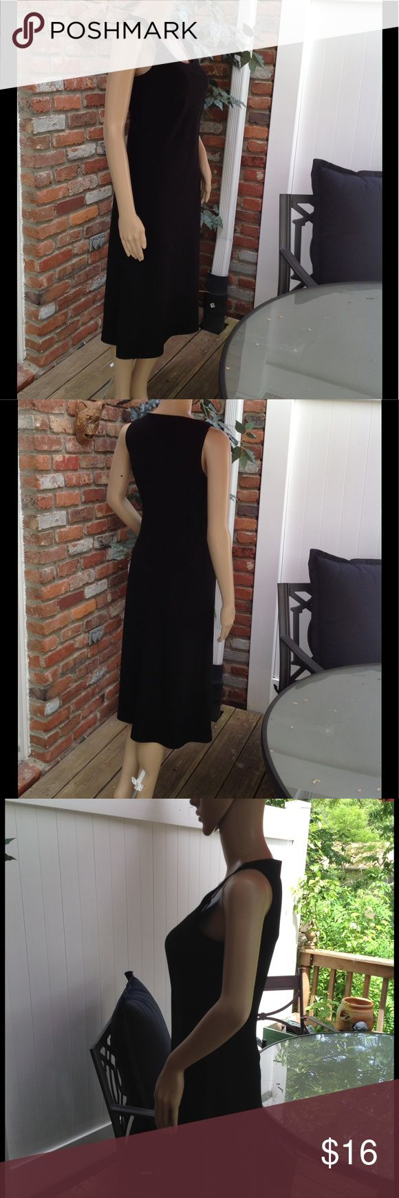 Ann Taylor petite black dress Ann Taylor petites  sleeveless black dress Ann Taylor Dresses Midi