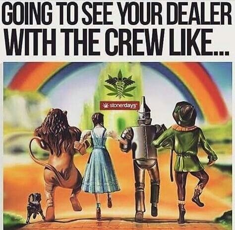 We're off to see the dealer! The wonderful dealer of ours!