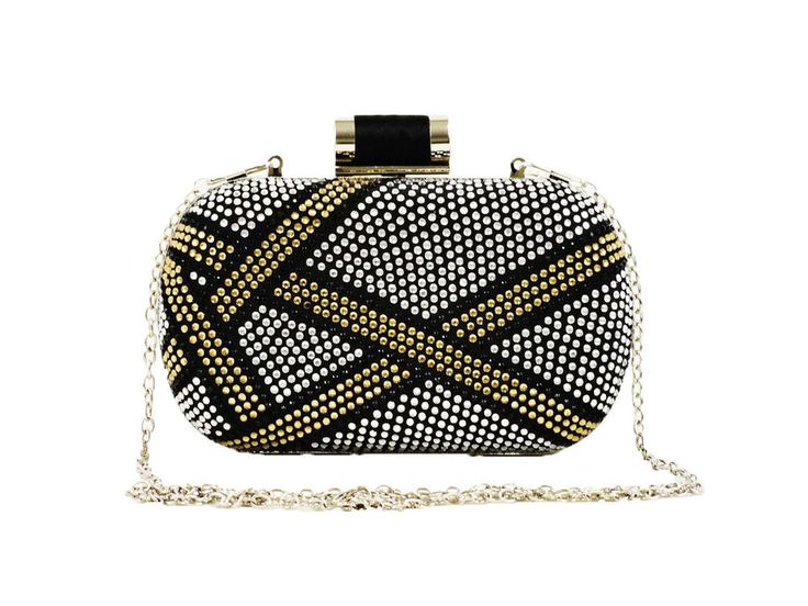 Multi Color Rhinestone Stripe Clutch Evening Bag with Tilt Knot Clasp - Black | Clothing, Shoes & Accessories, Women's Handbags & Bags, Handbags & Purses | eBay!