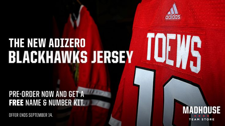⌚️ is running out to pre-order a #Blackhawks ADIZERO jersey! FREE lettering included. Offer ends Sept. 14.