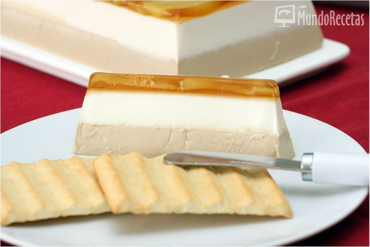 Mousse de foie y queso de cabra con manzana caramelizada en Thermomix