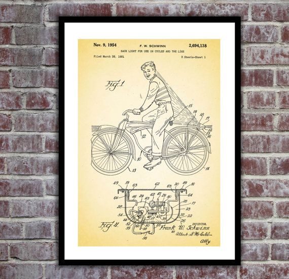The 25 best bicycle lights ideas on pinterest bike light bicycle light patent bicycle light poster bicycle light blueprint bicycle light print malvernweather Images