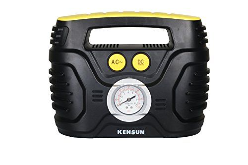 Kensun AC/DC Swift Performance Portable Air Compressor Tire Inflator with Analog Display for Home (110V) and Car (12V) - 18/20 Litres/Min. Kensun quality: Brought to you by a standout amongst the most trusted names in car extras with unique client service! Unique adaptability: Transcends the capacity of general air, best offer