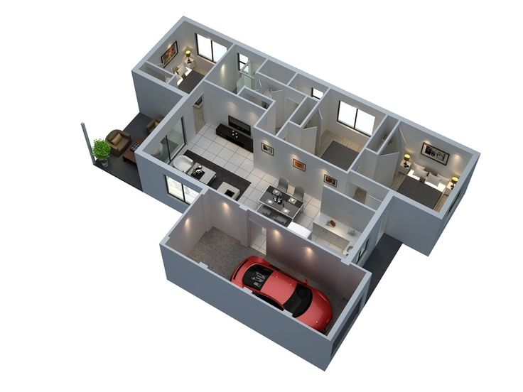 3 Bedroom Apartment Floor Plans 3d 72 best 3d house plan images on pinterest | floor plans, brisbane
