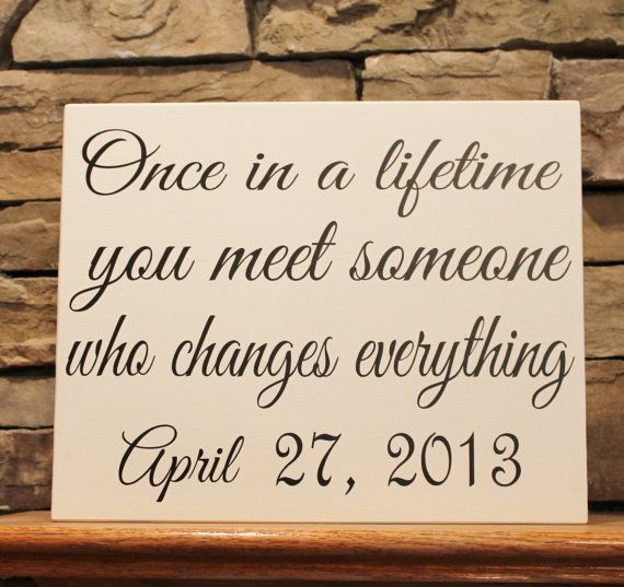 Custom wood signs make the perfect gift for Birthdays, Weddings, Anniversaries or for those who have it all. You can order the above quote or create your own custom sign. Wood Sign 11x12 Family Name Signs personalized by StoneEffectsMD, $23.00