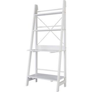 Buy Ladder Bookcase fice Desk White at Argos