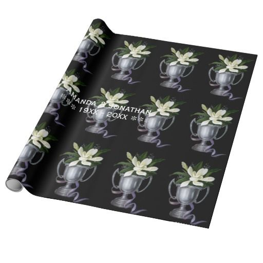 25th Silver Wedding Anniversary Personalized Wrapping Paper