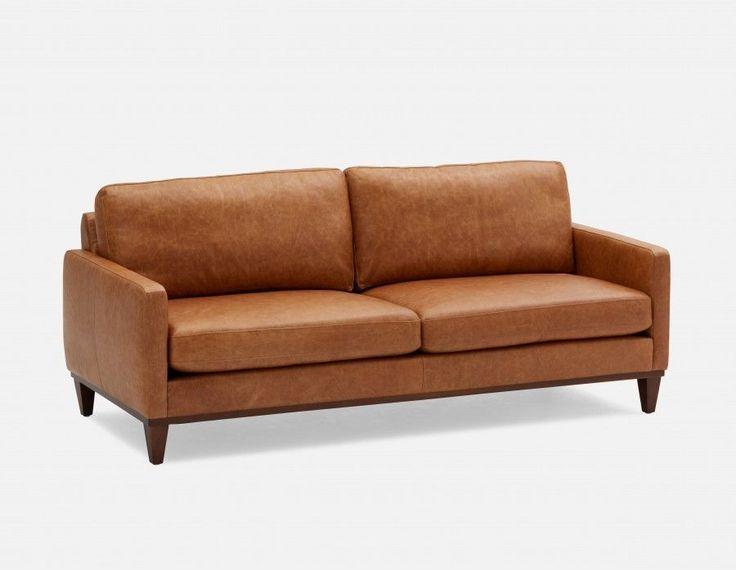 HAMILTON   100% Leather 3 Seater Sofa   Caramel