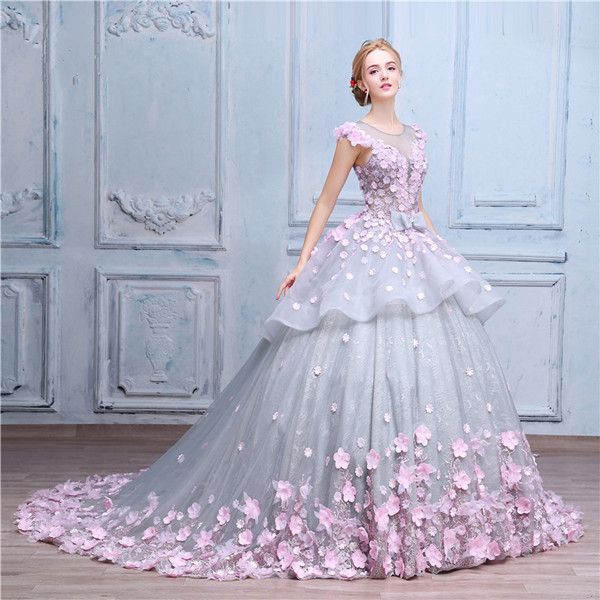 Flower Fairy, gorgeous ball gown couture. best used for wedding  dress and special occasion dress.