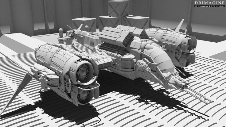 Statki kosmiczne niczym ze #StarWars, najnowocześniej pojazdy wojskowe  czy wehikuły czasu, dzięki #grafika i #animacja3D stają się rzeczywistością każdego filmu czy reklamy. #modeling3d #maya #autodesk #AkademiaAnimacji #Drimagine #animation #vehicles