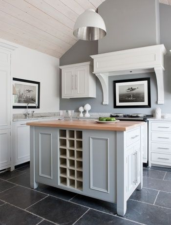 Freestanding kitchen island, white and traditional - by Neptune.