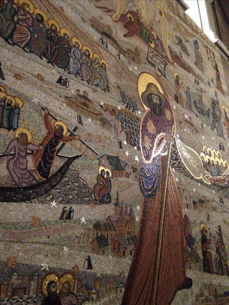 Fresque chemin de St Jacques de Compostelle ... Basilique notre dame de Fourvière