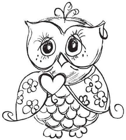 Baykuş Boyama Resmi Okul öncesi Owl Coloring Pages Owl Ve