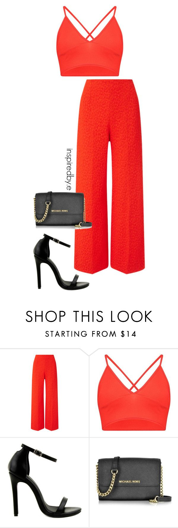 """Tomato"" by emmakiis on Polyvore featuring Roland Mouret, Boohoo, Novo and Michael Kors"