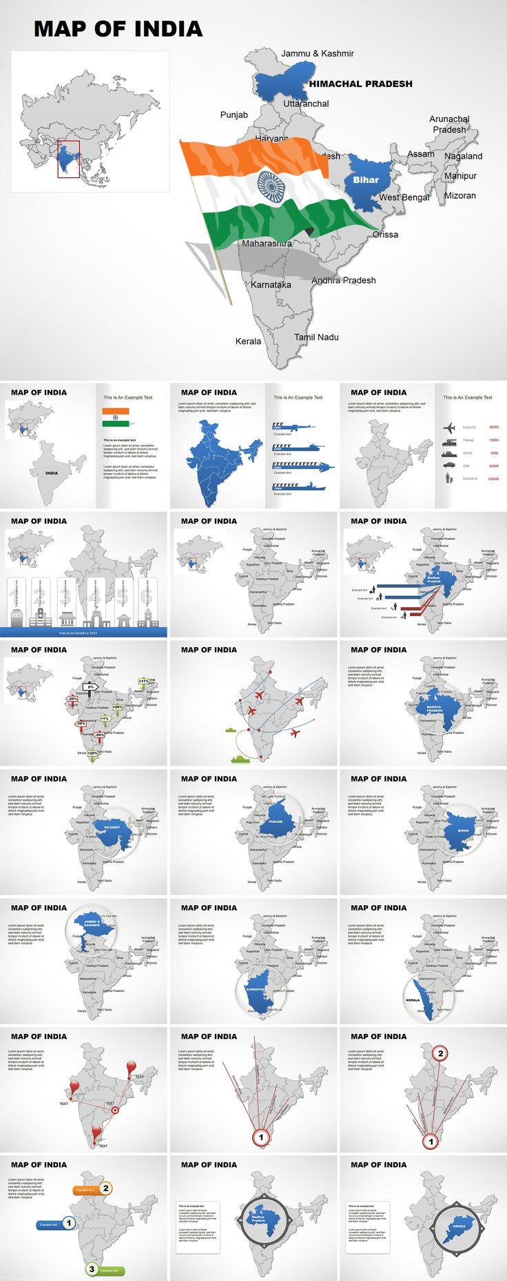 Mejores 84 imágenes de Keynote Maps - Templates en Pinterest ...