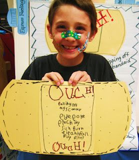 First Grade: OUCH! poetry lesson
