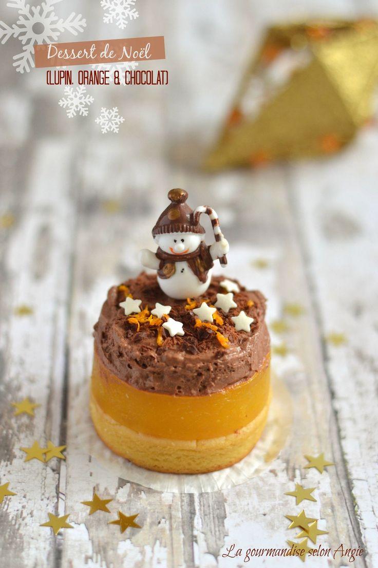 Dessert végétal Noel - farine de lupin, orange et chocolat (2)
