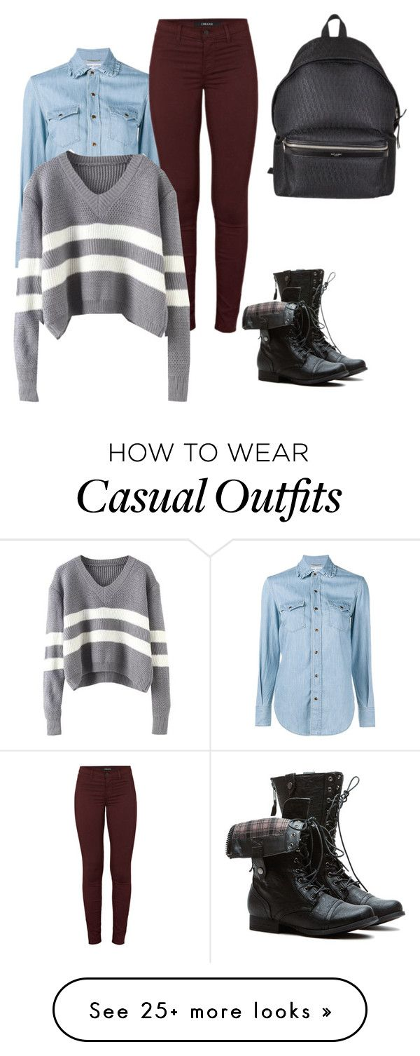 """Casual"" by shabirabirabwa on Polyvore featuring Yves Saint Laurent and J Brand"