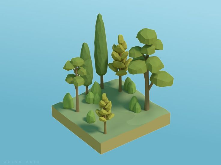 Simple Vegetation #2 [Low-Poly] by AkiGD on DeviantArt