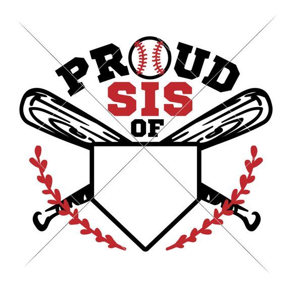 Commercial Use Digital Design Proud Baseball Sis Jersey Number SVG eps dxf png File for Cutting Machines like Silhouette Cameo and Cricut