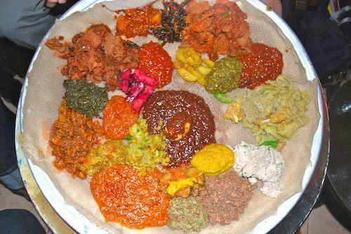how to eat ethiopian food injera