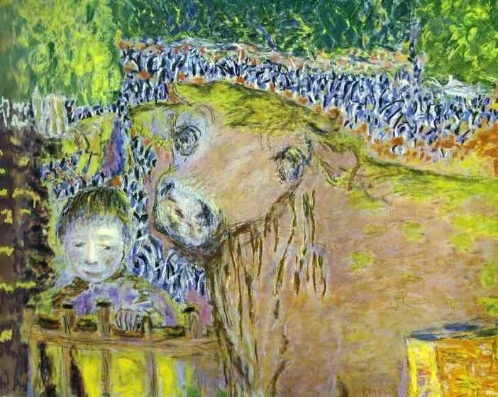 'boll e le bambino', olio su tela di Pierre Bonnard (1867-1947, France)