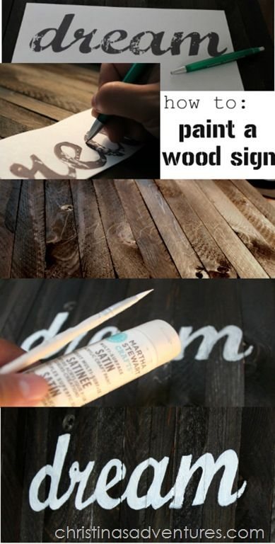 Thrifty tutorial on how to make art out of wooden shims, and a great picture tutorial on how to paint a wood sign!