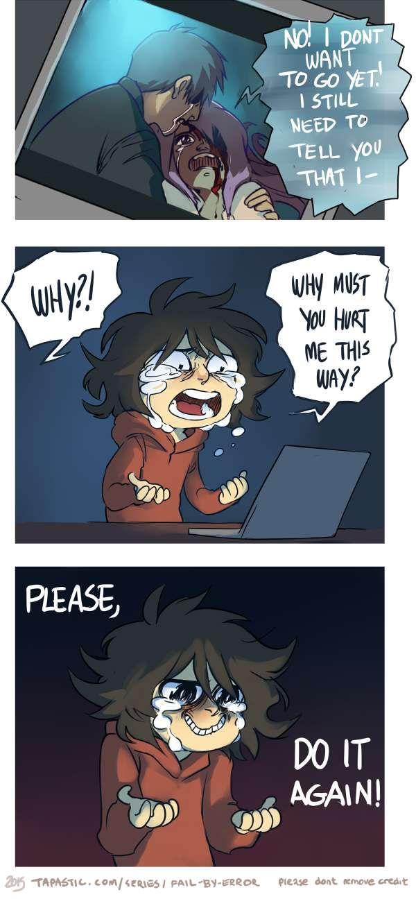 Fail by Error :: masochist nerd | Tapastic Comics - #me