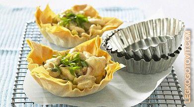 Фото рецепта: Тарталетки с нежным кремом из авокадо