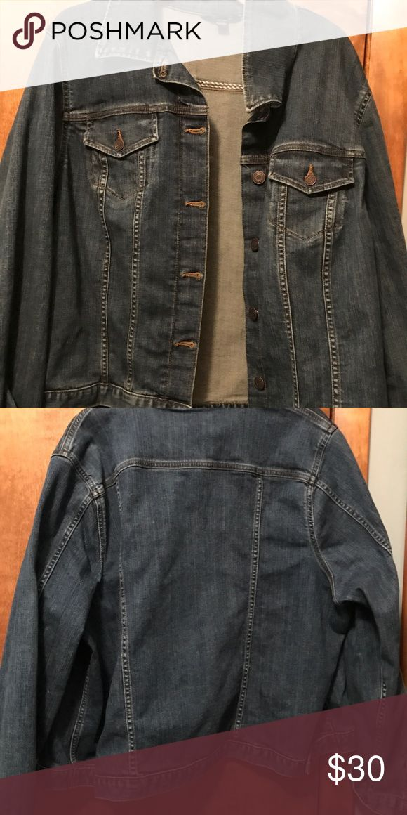 Lands End 2X Jeans Jacket The wardrobe stable is a perfect with a dress or leggings! It goes with everything!! Perfect year 'round! New wo tags! Lands' End Jackets & Coats Jean Jackets