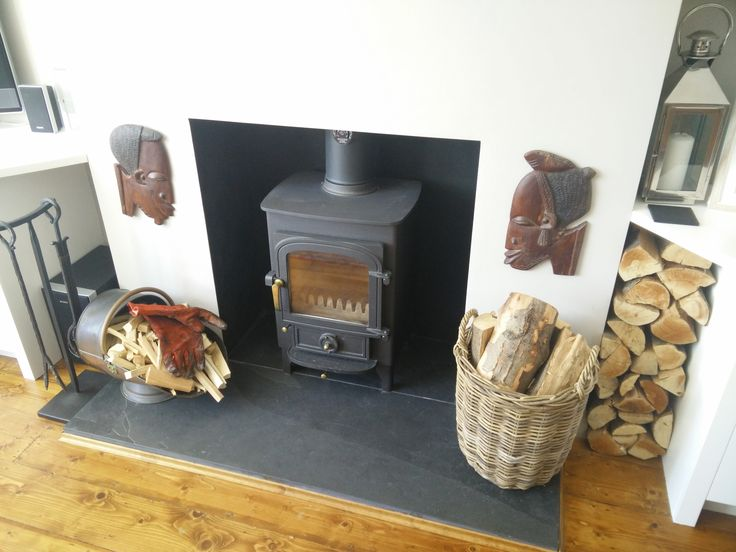 Our customer liked the Clearview stove we fitted so much that they had 2 fitted! Clearview Pioneer 400 installed onto riven slate hearths and rendered fireplaces.