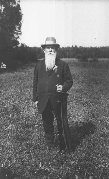 Oscar Swahn, aged 72 at the 1920 Olympics when he took silver in the 100m double-shot running deer shooting event