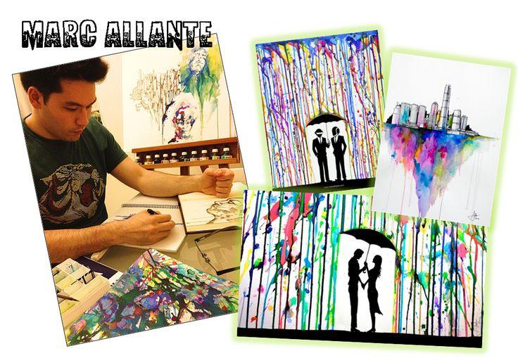 arts et saisons - panneaux des saisons et silhouette inspirés de Marc Allante