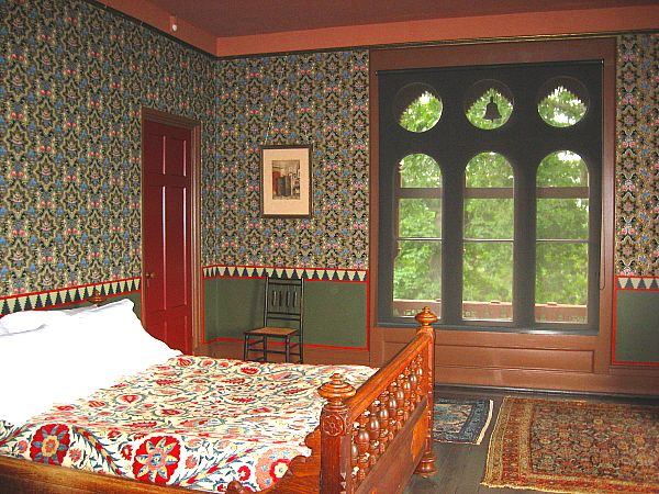 Bedroom from the artist Frederic Church's home, Olana.