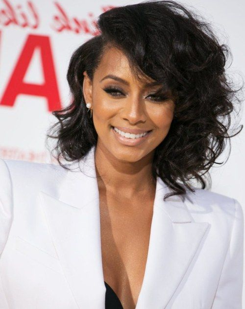 Keri Hilson Asymmetrical Bob | 50 Showiest Bob Haircuts For Black Women