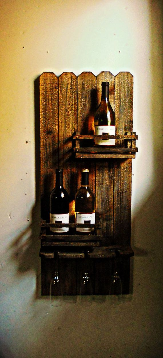 Hanging Crate Wine Rack by ThisShabbyHouse on Etsy, $69.95