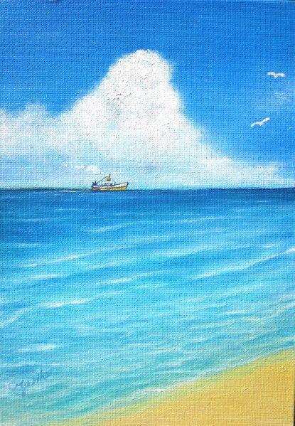 風景画「ポンポン船」[MARIKO] | ART-Meter