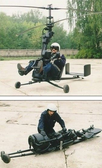 Portable helicopter. I dont personally know this guy, but based upon this picture alone, hes cooler than me. #technology
