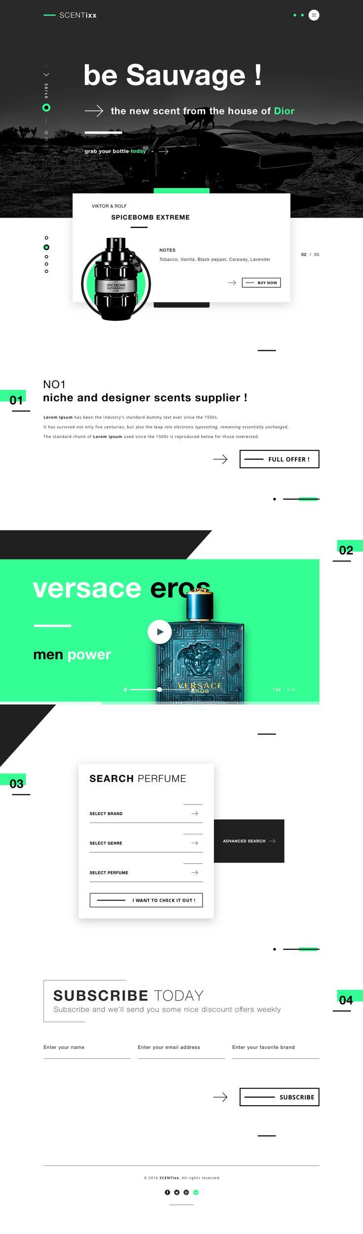 Scentixx perfume shop scent webdesign ui design landing page dribbble perfumes