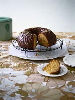 Macadamia Cake with Lime Syrup