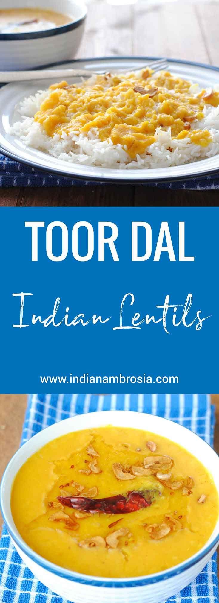 Toor dal with plain basmati rice  #lentils, #arhar, #indian dal