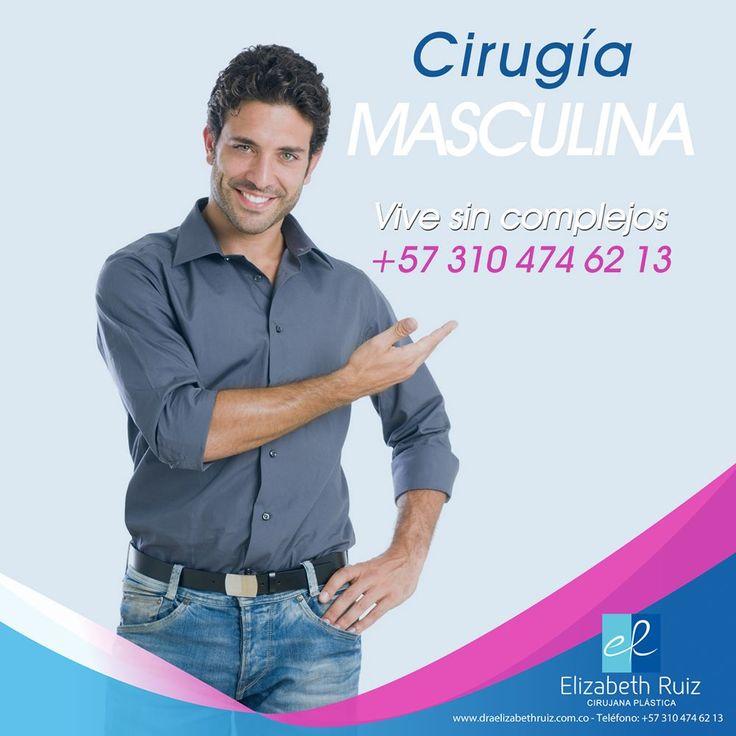 La cirugía plástica no es exclusiva de las mujeres, cada vez más hombres se realizan procedimientos estéticos para corregir uno que otro detalle de su rostro o cuerpo con el que no están a gusto.  Vive sin Complejos!  Dra Elizabeth Ruiz - Cirujana Plástica Colombia   #plasticsurgery #cirugiaplastica #plasticsurgeon #cirujanaplastica #lipoescultura #abdominoplastia #rinoplastia #ginecomastia #liposuccion #calico #otoplastia #blefaroplastia #rejuvenecimientofacial #marcacionabdominal