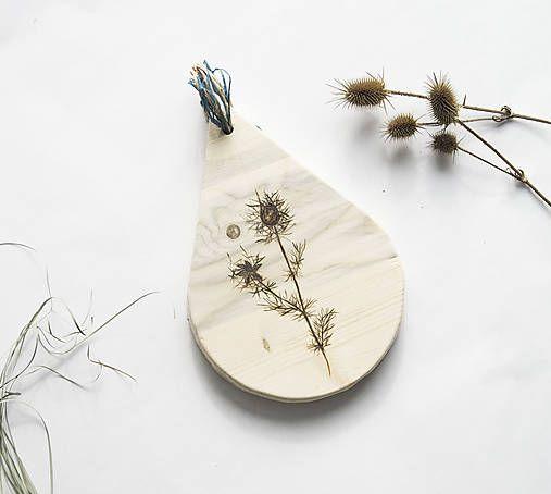 DIY handmade ChopperArt natural kitchen - herbs ChopperArt / Drevený lopár - Černuška
